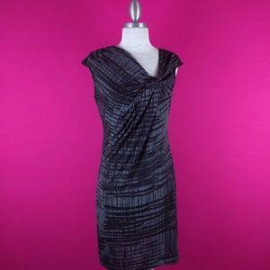 @ Kenneth Cole sz SP Grey Black Sheath Dress